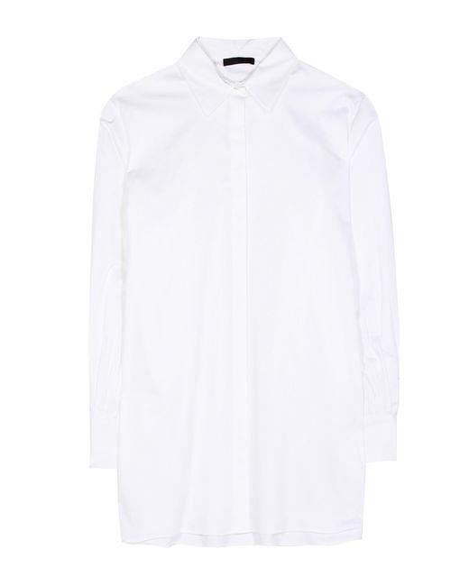 The Row - White Patou Cotton Shirt - Lyst