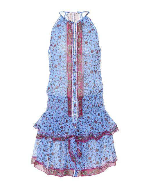Poupette - Blue Honey Floral Cotton Minidress - Lyst