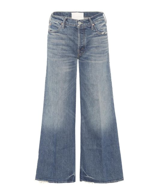 Mother - Blue The Stunner Roller Ankle Jeans - Lyst