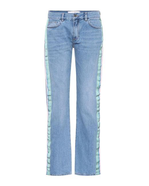 Victoria, Victoria Beckham - Blue Verzierte Jeans - Lyst