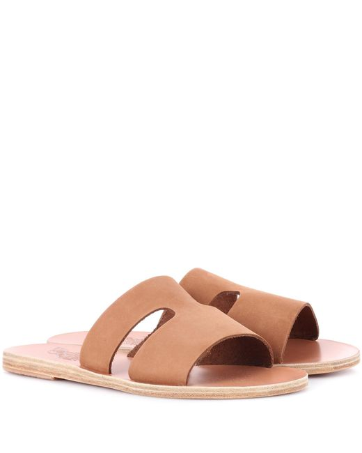 Ancient Greek Sandals - Brown Apteros Nubuck Leather Sandals - Lyst