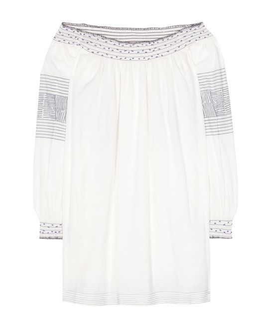 Velvet - White Brynna Cotton Top - Lyst