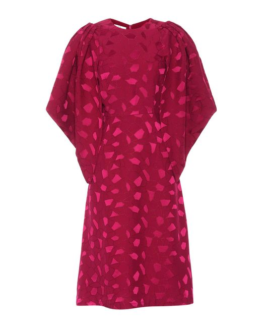 Co. | Purple Mosaic Jacquard Crêpe And Satin Dress | Lyst
