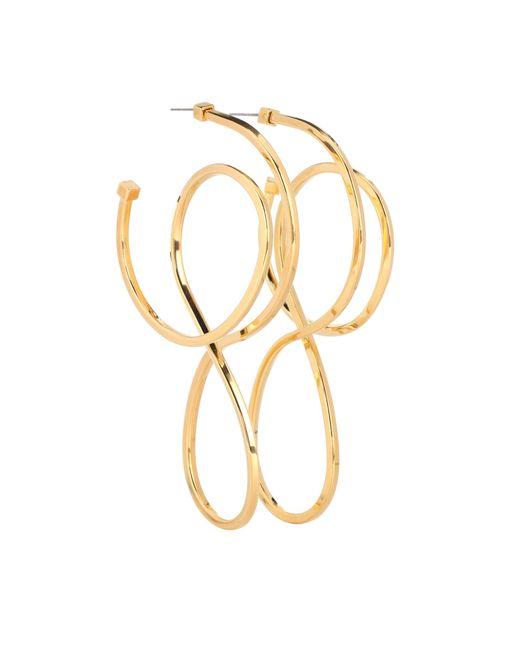 Balenciaga - Metallic Hoop Earrings - Lyst