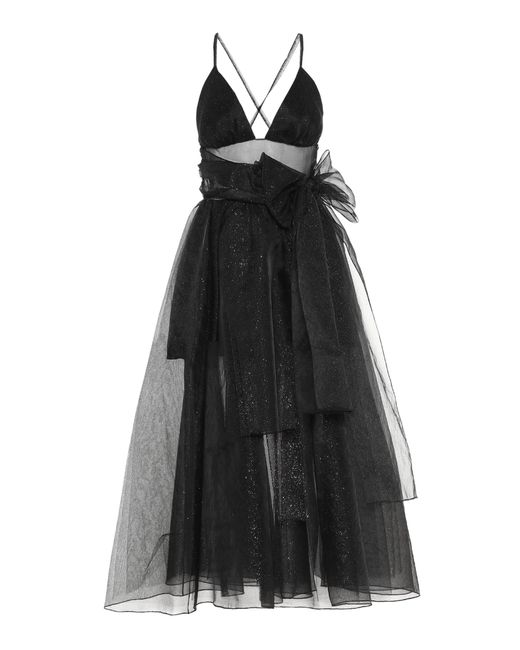 Rosie Assoulin - Black Cotton-blend Sleeveless Dress - Lyst
