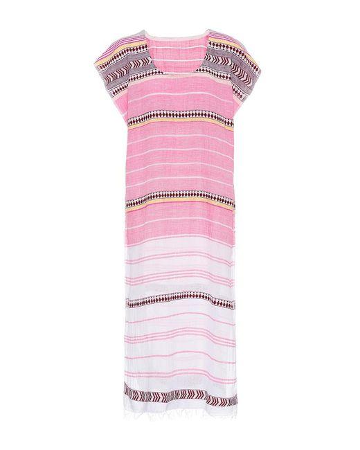 Lemlem - Pink Luchia Cotton-blend Kaftan - Lyst