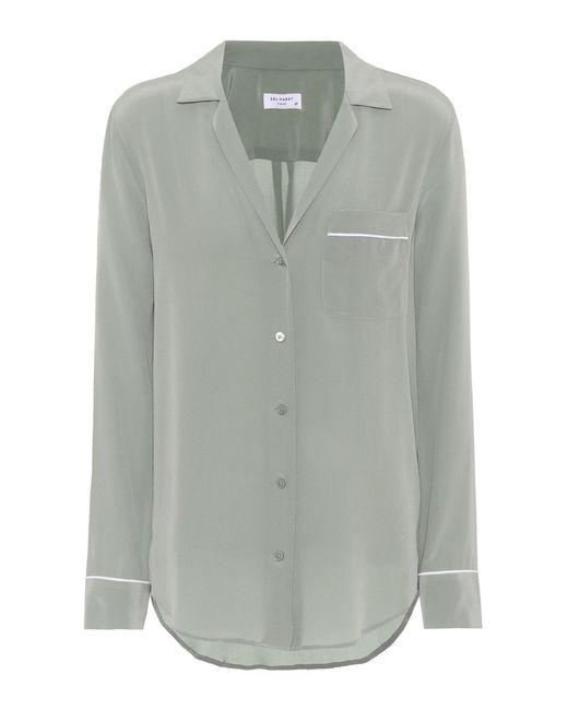 Equipment - Green Keira Silk Shirt - Lyst
