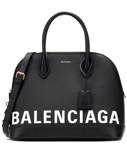 Balenciaga - Black Ville M Leather Tote - Lyst