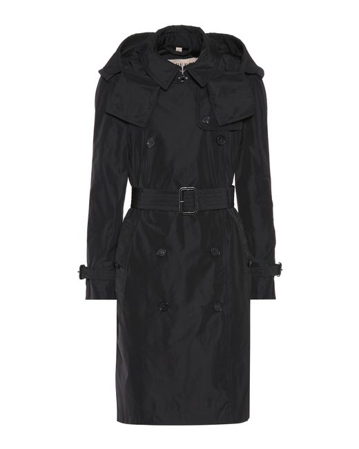 Burberry - Black Detachable Hood Trench Coat - Lyst