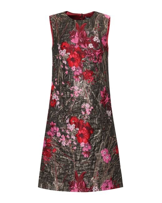 Dolce & Gabbana | Metallic Sleeveless Jacquard Dress | Lyst