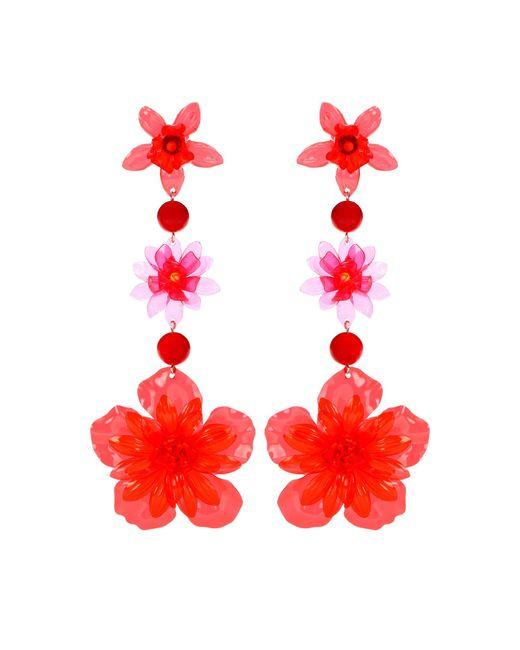 Isabel Marant - Red Flower Drop Earrings - Lyst