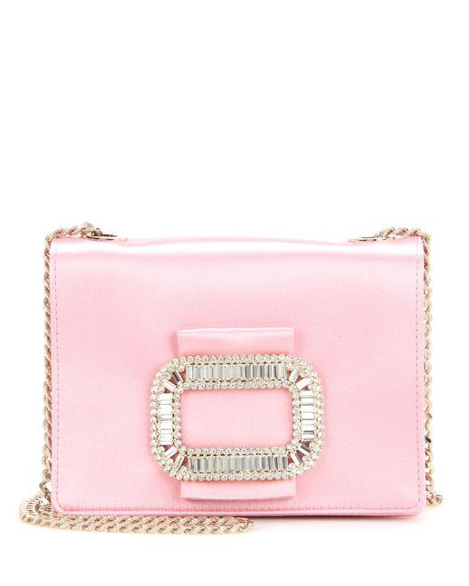 Roger Vivier - Pink Tiffany Micro Embellished Shoulder Bag - Lyst