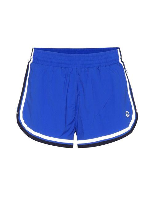 Tory Sport - Blue Side-striped Shorts - Lyst