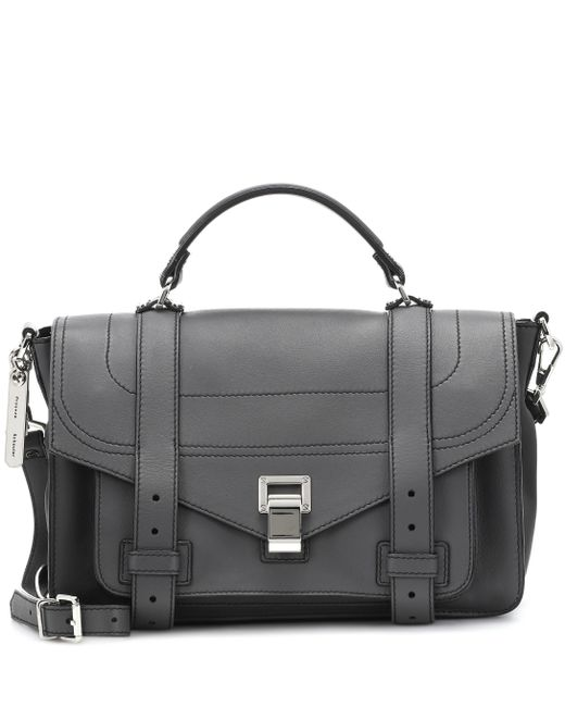 Proenza Schouler - Gray Ps1+ Medium Leather Tote - Lyst
