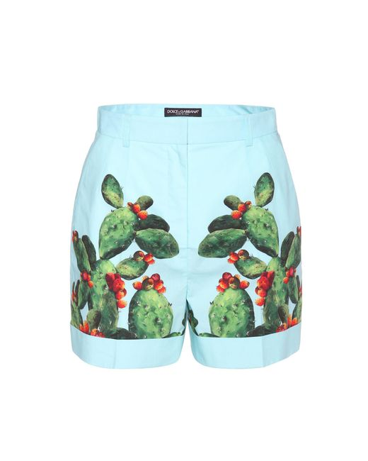 Dolce & Gabbana - Multicolor Exclusive To Mytheresa. Com – Printed Cotton Shorts - Lyst