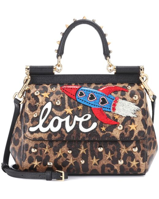 Dolce & Gabbana - Brown Sicily Small Leopard-printed Tote - Lyst