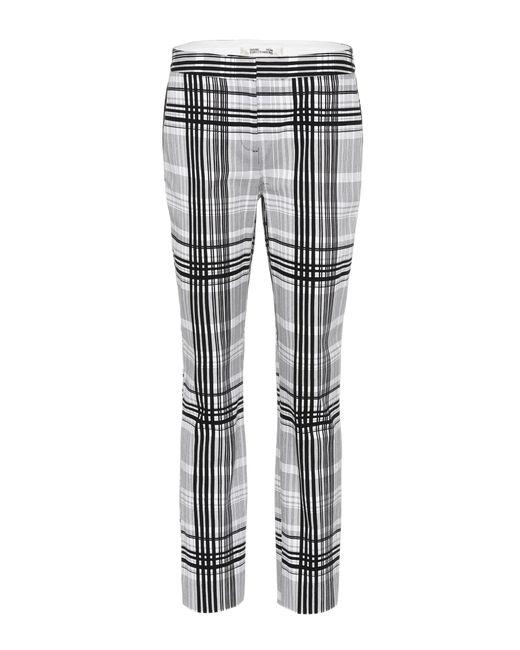 Diane von Furstenberg - Black Darnley Plaid Cotton Trousers - Lyst