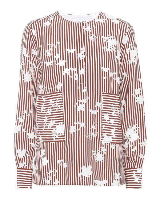 Altuzarra   Red Carnegie Striped Silk Top   Lyst