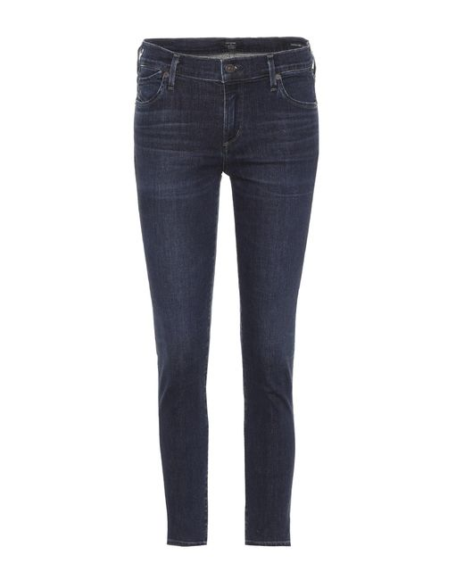 Citizens of Humanity - Blue Avedon Ultra-skinny Cropped Jeans - Lyst