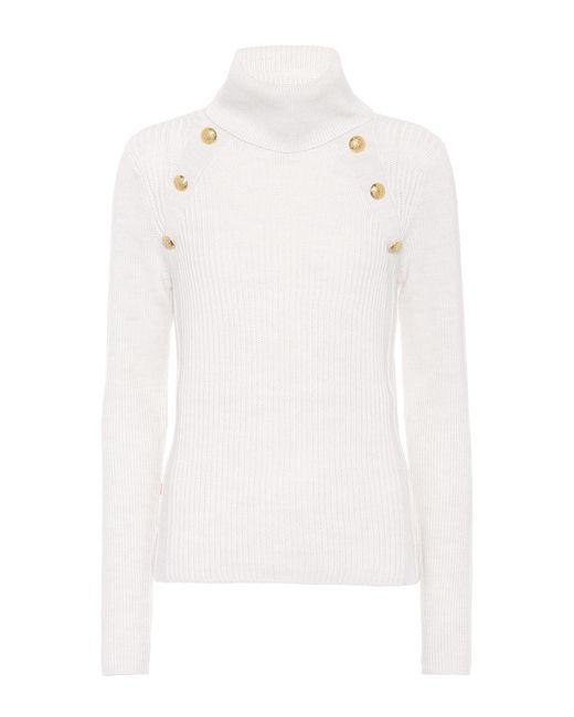 Veronica Beard | White Merino Wool Sweater | Lyst
