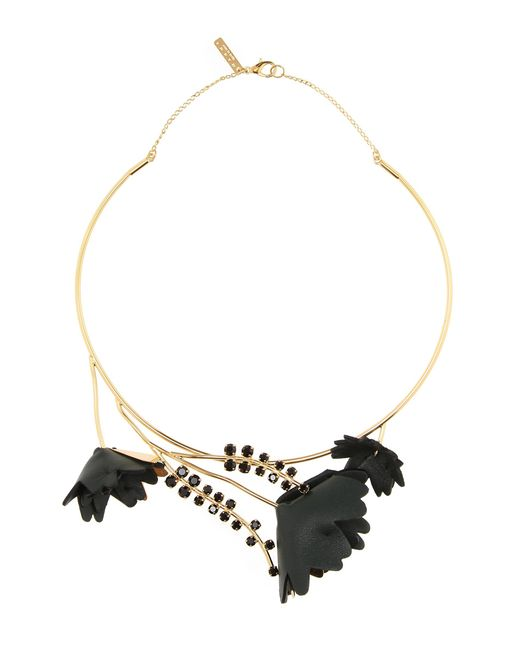 Marni | Black Floral Necklace | Lyst