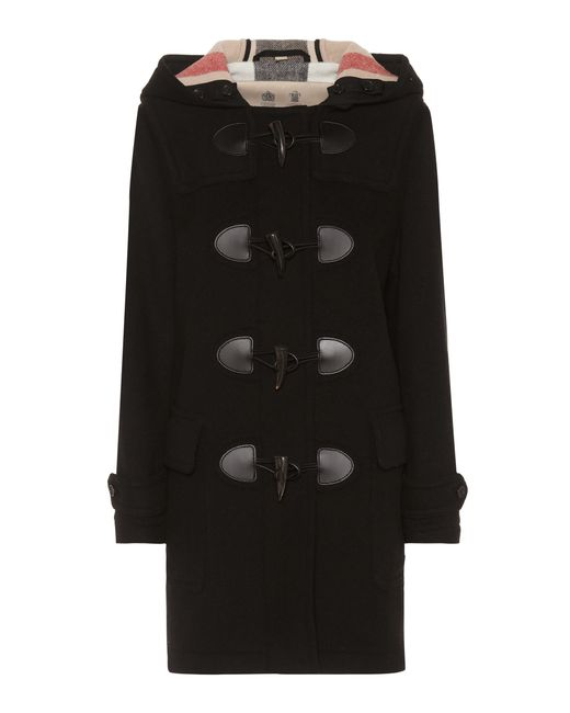 Burberry - Black Wool Coat - Lyst