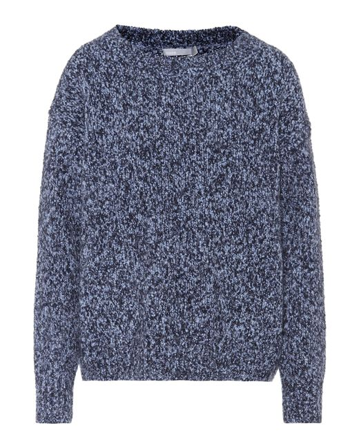 Vince | Blue Wool, Cashmere And Silk Sweater | Lyst
