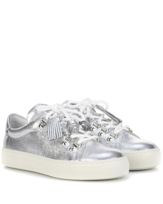 Tod's | Metallic Leather Sneakers | Lyst