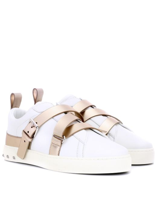 3750389390d Valentino - Multicolor Leather Sneakers - Lyst ...