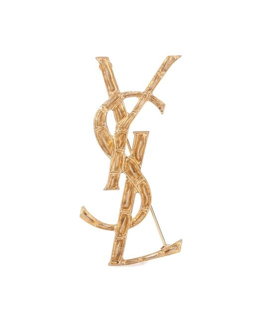 Saint Laurent - Metallic Opium Ysl Brooch - Lyst
