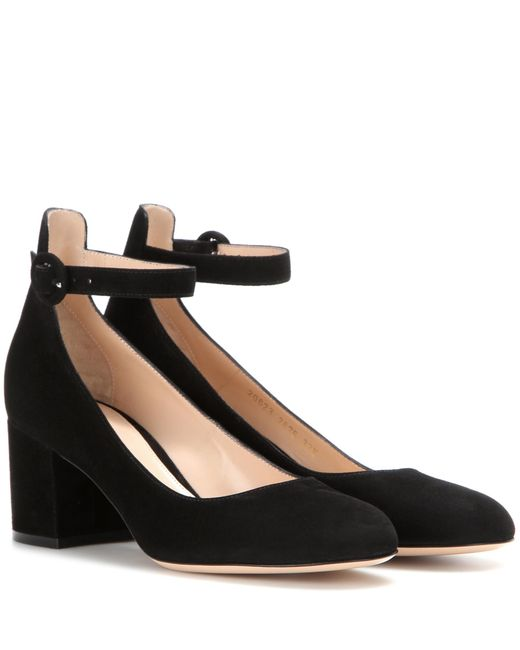 Gianvito Rossi - Black Suede Pumps - Lyst