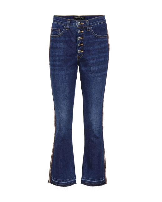 Veronica Beard - Blue Cropped Jeans Carolyn Baby Boot - Lyst