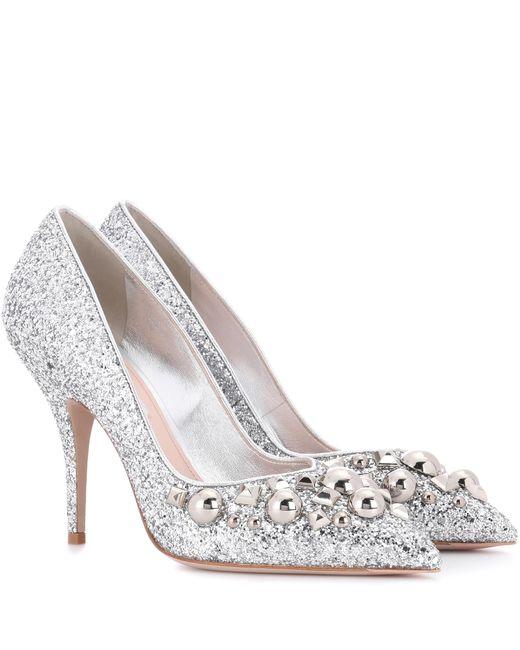 Miu Miu Glitter Shoes Buy
