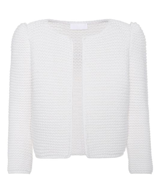 Co. - White Hand-knit Wool Cardigan - Lyst