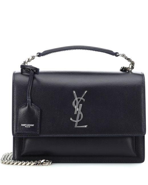 Saint Laurent - Black Large Sunset Monogram Shoulder Bag - Lyst