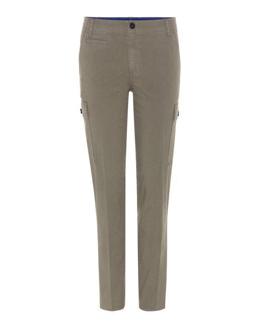 Tory Burch - Green Sierra Chino Cotton Trousers - Lyst