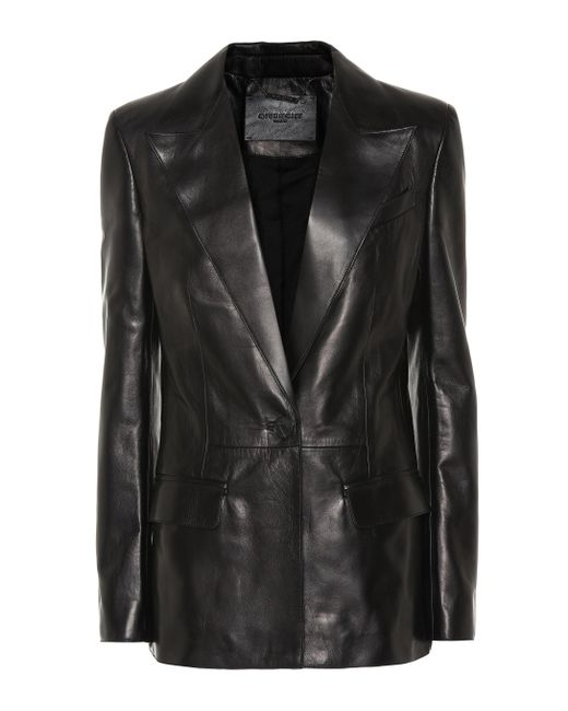 575490be0f72 Givenchy - Black Leather Blazer - Lyst ...