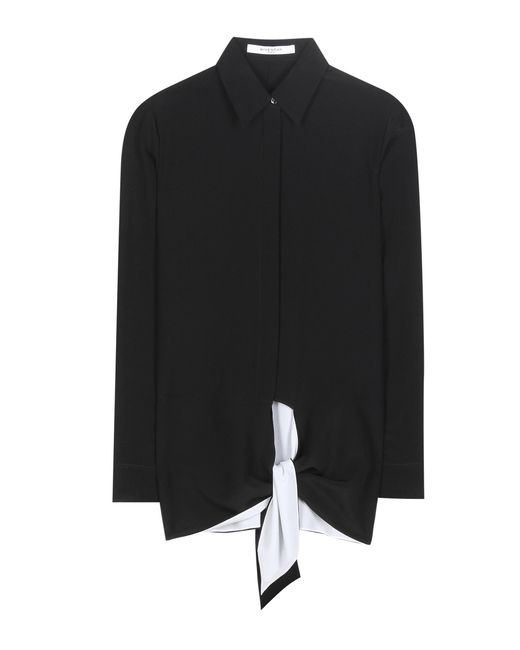 Givenchy - Black Silk Crêpe De Chine Blouse - Lyst