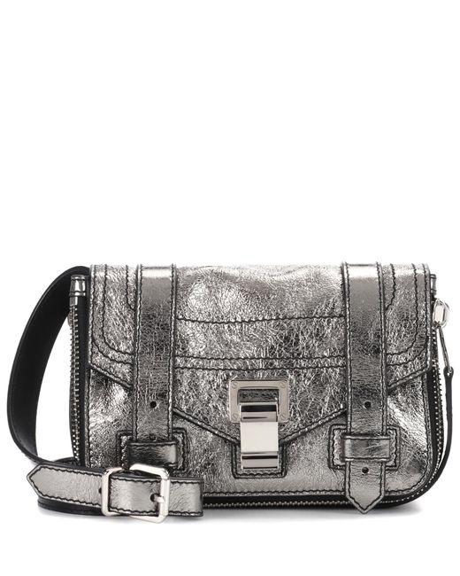 Proenza Schouler   Metallic Ps1+ Mini Leather Shoulder Bag   Lyst