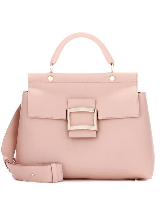 Roger Vivier - Pink Leather Shoulder Bag - Lyst