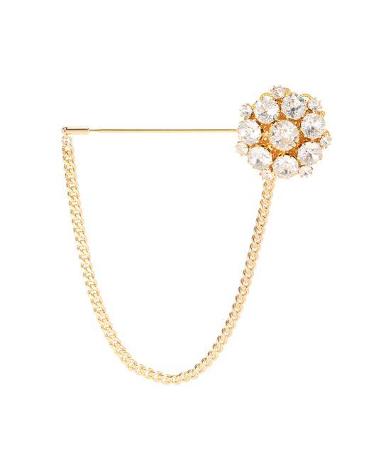 Dolce & Gabbana   Metallic Crystal Brooch   Lyst