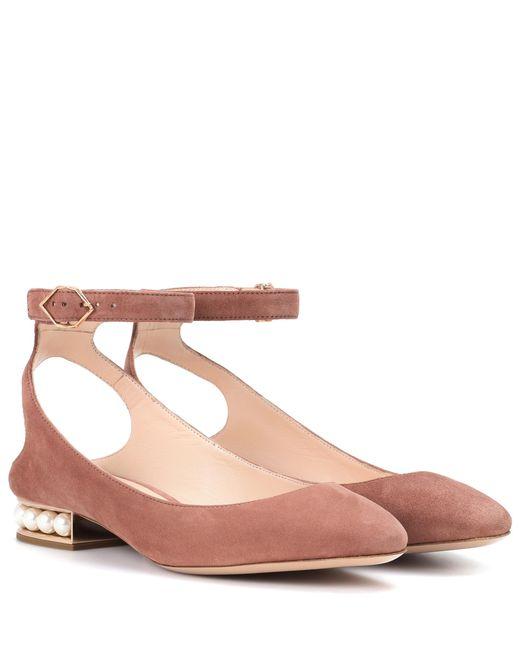 Nicholas Kirkwood - Multicolor Lola Pearl Suede Ballerinas - Lyst