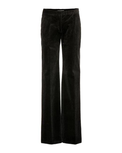 e4baf178e27c0 Agnona - Black Velvet Corduroy Pants - Lyst ...