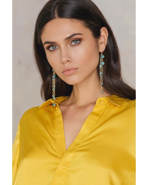 NA-KD - Multicolor Coloured Chain Earrings - Lyst