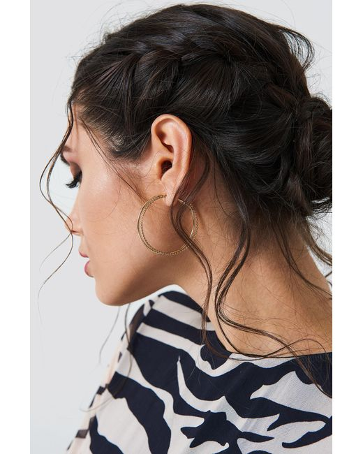 NA-KD - Metallic Double Circle Hoop Earrings - Lyst