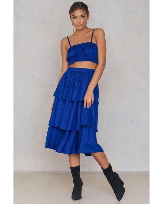 NA-KD - Blue Triple Layer Skirt Navy - Lyst