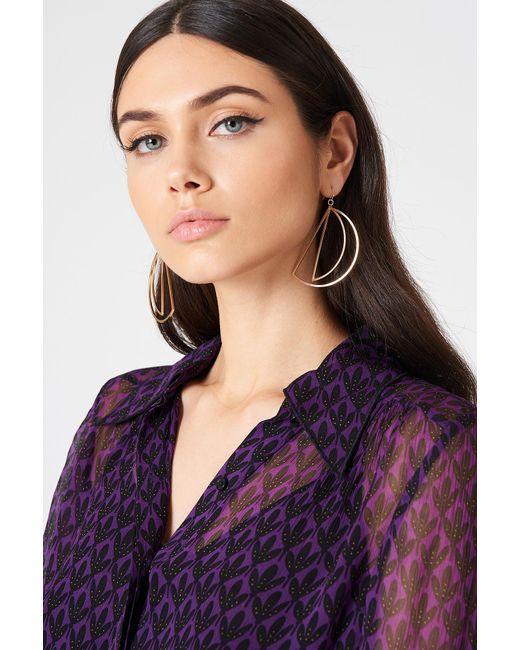 NA-KD - Metallic Hanging Half Moon Earrings - Lyst