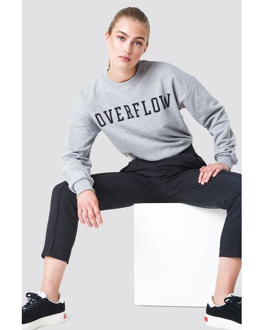 NA-KD - Gray Overflow Sweatshirt - Lyst