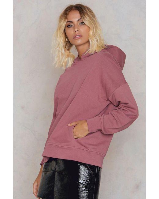 NA-KD | Pink Gathered Sleeve Hoodie | Lyst