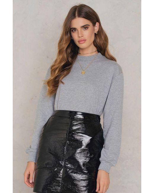 NA-KD | Gray Basic Sweater | Lyst